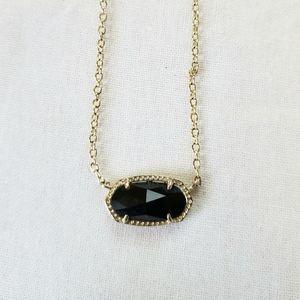 Kendra Scott | Gold Elisa Necklace in Black